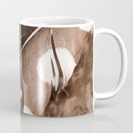 Beautiful Feathers On A Dark Brown Background #decor #buyart #society6 Coffee Mug