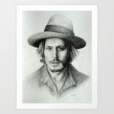 Johnny Deep Art Print