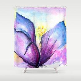 Frozen rainbow flower Shower Curtain