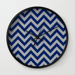 Chevron Pattern - navy and grey - more colors Wall Clock