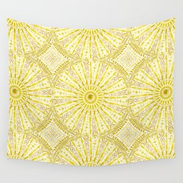 SUN WORSHIP Yellow Mandala Wall Tapestry