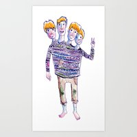 Art Print featuring 2gether 4ever by Kate Solow