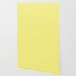 Summery Happy Yellow Honeycomb Pattern - MIX & MATCH Wallpaper