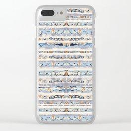 Boho Stripes Clear iPhone Case