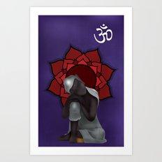Rest my Buddah Art Print