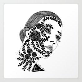 Sensitive Woman Art Print