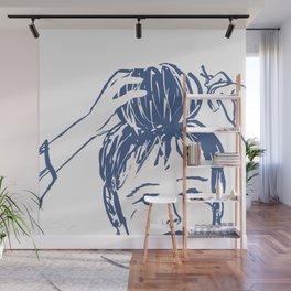 Messy bun day Wall Mural