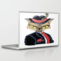 gangster Laptop & iPad Skins featuring Gangster Kitty by J&C Creations