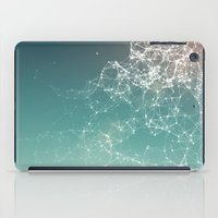 physics iPad Cases featuring Fresh summer abstract background. Connecting dots, lens flare by AMULET