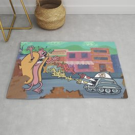 Hot Dog Attack! Rug