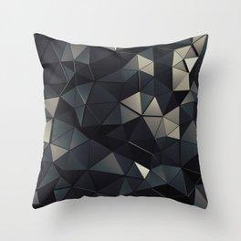 Polygon Noir Throw Pillow