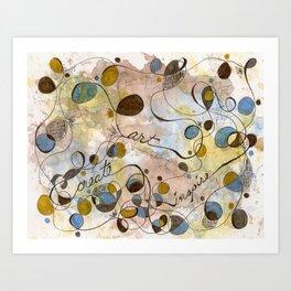 Flourish: Create, Art, Inpspire Art Print