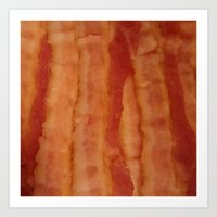 bacon Art Prints featuring BACON by ..........