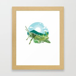 Insects Entomology Wildlife Animals Little Fly Grasshopper Gift Framed Art Print