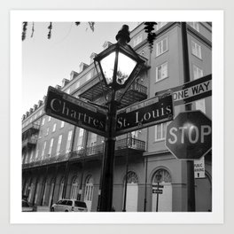 French Quarter, New Orleans streets Art Print