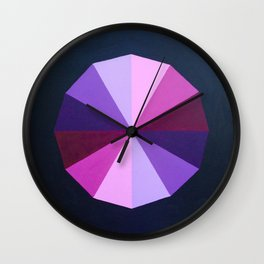 Purple dodecagon Wall Clock