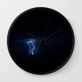 Lightning Strikes - III Wall Clock
