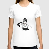 audrey T-shirts featuring Audrey by Clementine Petrova