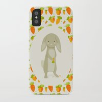 rabbit iPhone & iPod Cases featuring Rabbit by Jane Mathieu