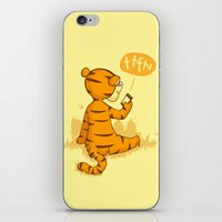 tigger iPhone & iPod Skins featuring Ta Ta For Now by Skylar Hogan
