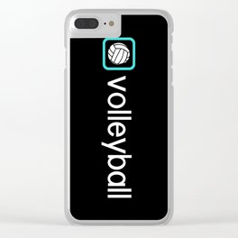 Volleyball (Blue) Clear iPhone Case