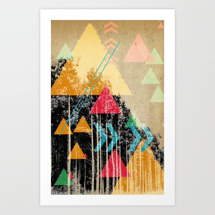 TRIANGLES AND NATURE  Art Print