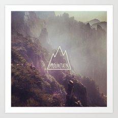 Mountain Lettering Art Print