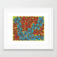 good vibes Framed Art Prints featuring Good Vibes by Sarah J Bierman