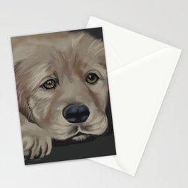 Missing You (Sad Golden Retriever) Stationery Cards