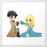 captain swan Art Prints featuring OUAT - Captain Swan by Choco-Minto