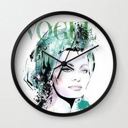 Vogue Fashion Illustration #9 Wall Clock