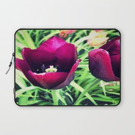 Purple Tulips in Bloom Laptop Sleeve