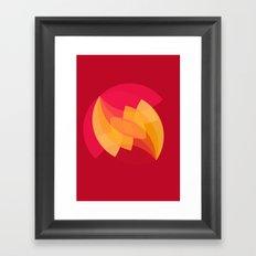 swoosh burst Framed Art Print