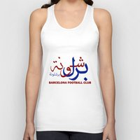 barcelona Tank Tops featuring Barcelona by Sport_Designs