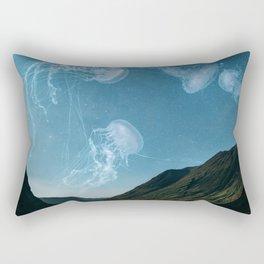 Let's swim to the moon Rectangular Pillow