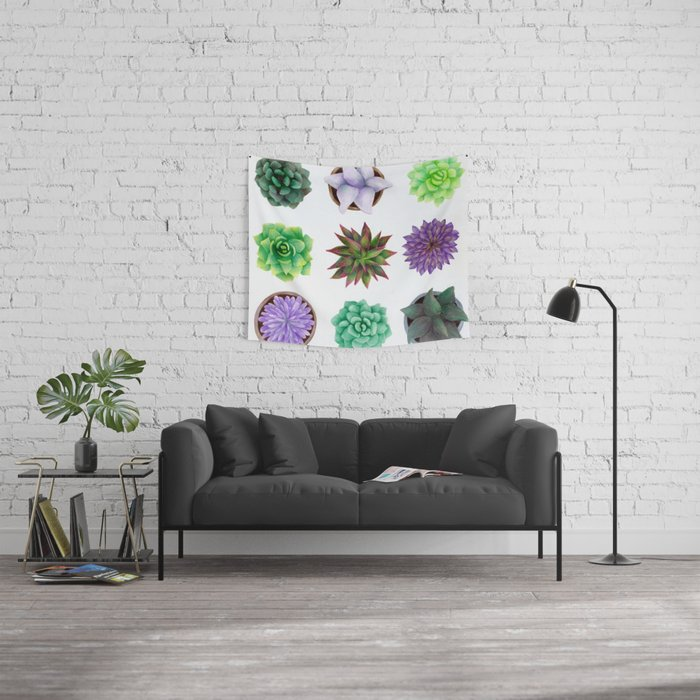 Succulent Friends Wall Tapestry