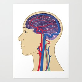 Universe in Brain_B Art Print