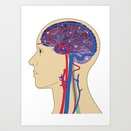 Universe in Brain_B Art Print