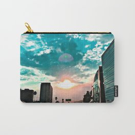 urban road with beautiful cloudy summer sunset sky Carry-All Pouch