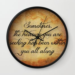 The Treasure Within You Wall Clock