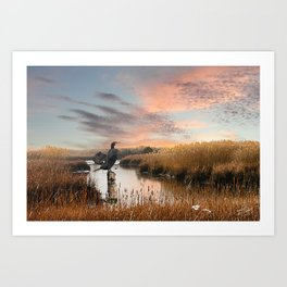 Sunset in the Wetlands Art Print