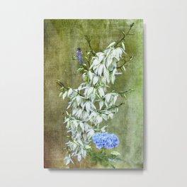 Flowers at my Door Metal Print