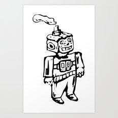 Smoke-bot Art Print