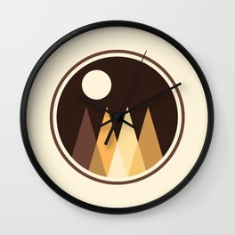 Coffee Sky with Creamy Moon on Capuccino Forest Wall Clock