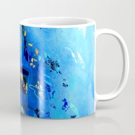 Blue, Black and White Coffee Mug