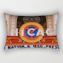 Chicago Retro Rectangular Pillow