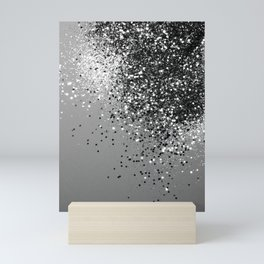 Sparkling Silver Gray Lady Glitter #1 #shiny #decor #art #society6 Mini Art Print