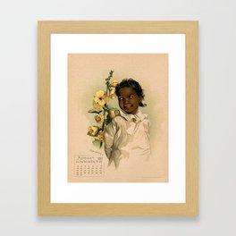 African Girl Maud Humphrey Framed Art Print