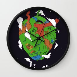 Earth Heart Wall Clock