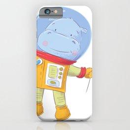 Space Hippo Hippopatamus Astronaut iPhone Case
